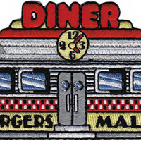 Diner Iron-On Patch Burgers Malts