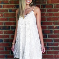 Seal It With A Kiss Dress, Cream