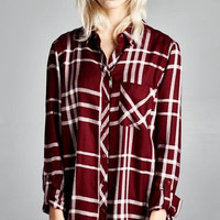 Dubai Plaid shirt long sleeve with roll tab on sleeve