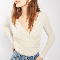 TALL Long Sleeve Wrap Body - Tops - Clothing