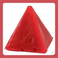 Red Cinnamon Pyramid Candles