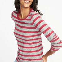 Slim-Fit Luxe Rib-Knit Top for Women   Old Navy