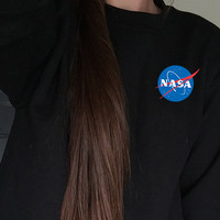 NASA Sweatshirt  - Tumblr Jumper - Aesthetics - Space - Alien - Astronaut - Moon - Birthday Gift - Best Friends Gift - Pocket Graphic Tee