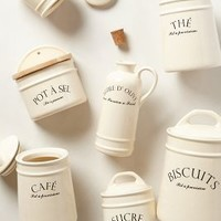 Bistro Canisters by Anthropologie Ivory