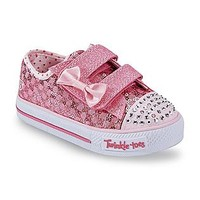 Skechers- -Toddler Girl's Sweet Steps Light Up Athletic Shoe - Silver/Pink-Clothing, Shoes & Jewelry-Shoes-Baby & Kids Shoes-Baby & Toddler Shoes-Toddler Girls' Shoes-Toddler Girls' Sneakers