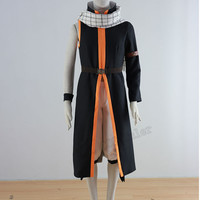 New version Fairy Tail Natsu Dragneel Cosplay Costume Any Sizes Include the Scarf