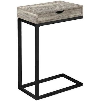"Taupe, Black, Particle Board, Drawer - Accent Table 10'.25"" x 15'.75"" x 24'.5"""
