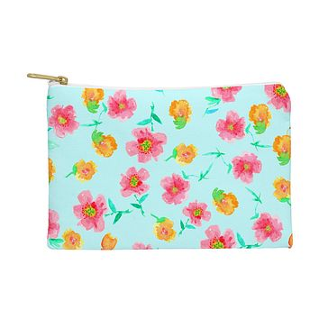 Joy Laforme Peonies And Tulips In Blue Pouch