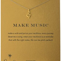 """Dogeared """"Reminders"""" Make Music-Treble Clef Gold Charm Necklace, 18"""""""