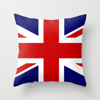 British Union Flag Throw Pillow by PICSL8 | Society6