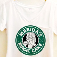 Brave Merida Shirt | Magic Cake Starbucks | Disney Princess
