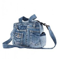 SMALL JEAN BAG WITH HANDLES