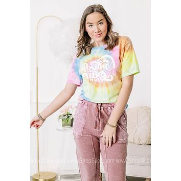 Positive Vibes Only Tie Dye Graphic Tee