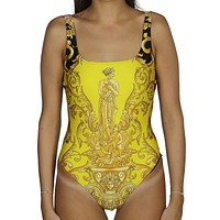 VERSACE Hot Sale Women Print Vest Type One Piece Bikini Swimsuit Bodysuit