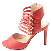 Super Strappy Ankle Cuff Heels by Charlotte Russe