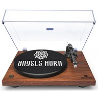 Retro Vinyl Record Turntable Record Player Vintage Stereo MP3 USB Recorder 2-Speed Turntable Built-in Phono Preamp Belt Drive
