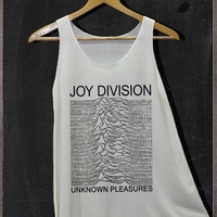 Joy Division Unknown Pleasures Band Pop Rock Shirt Tank Top Women Size S and M