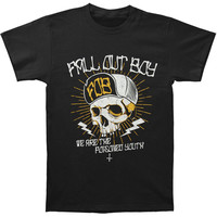 Fall Out Boy Men's  Poisoned Youth Skull Slim Fit T-shirt Black Rockabilia