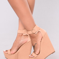 Vivi Wedge - Natural