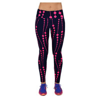 Women Printting Leggings High Waist Breathable Fitness Elastic Pant Leggins Plus Size Workout Trousers For Women