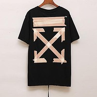 Off White Woman Men Fashion Casual Sports Shirt Top Tee