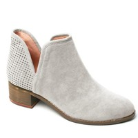 Silver Taupe Bootie
