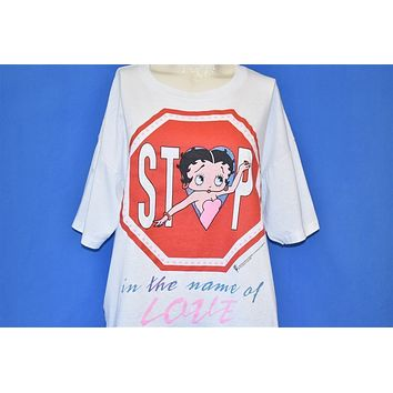 90s Betty Boop Stop In The Name of Love Cartoon t-shirt Large