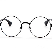 Metal Frame Clear Lens Round Circle Eye Glasses
