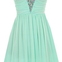 Iced Princess Dress | Mint Embellished Bust Bridesmaid Dress | RicketyRack.com