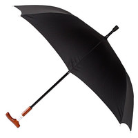 Walking Cane Umbrella, Black/Natural, Stick