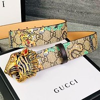 GUCCI Fashion New More Tiger Letter Women Men Belt