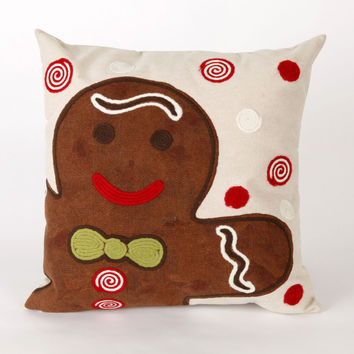 """Ginger Boy Chocolate 20"""" Square Indoor Outdoor Pillow"""