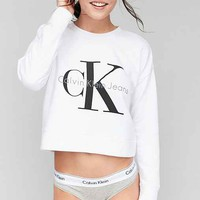 Calvin Klein For UO Cropped Pullover Sweatshirt