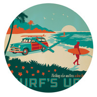 Anderson Design Group Surfs Up Round Clock