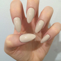 x Simple Nude x Matte or gloss nude nails quality press on false nails