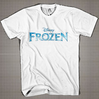 FROZEN LOGO  Mens and Women T-Shirt Available Color Black And White