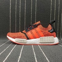 hcxx Adidas Boost Nmd R1 Pk Orange Women Men Fashion Trending Running Sports Shoes