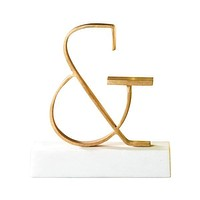 Ampersand Object Brass Sculpture