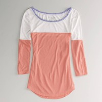 AE Feather Light Colorblock T   American Eagle Outfitters