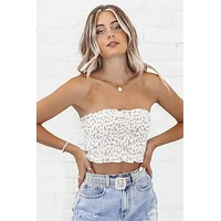 Change My Mind White Leopard Tube Top