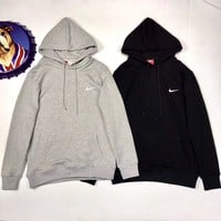 """NIKE"" Women/Men Fashion Hooded Top Pullover Sweater Sweatshirt"