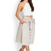 Sash Tied Midi Skirt