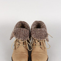 Antique Bookstores Sweater Boots