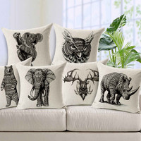 Cute Animal Throw Pillow