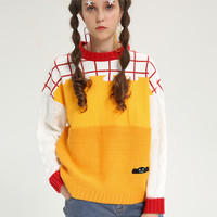 Tyakasha Planner Color Block Knitted Sweater