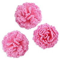 Pink Carnation Gum Paste Flowers