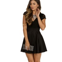 Pre-Order: Black Romantics Lace Skater Dress