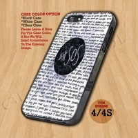 5SOS QUOTE  - Print On Hard Case iPhone 4/4S Case