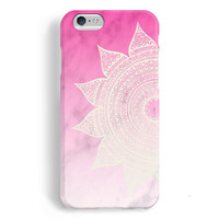 iPhone 6 Case, iPhone 6 Plus Case, iPhone 5S Case, iPhone 5 Case, iPhone 5C Case, iPhone 4S Case, iPhone 4 Case - Mandala Pink Marble