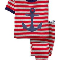 Striped Anchor-Graphic PJ Sets for Baby